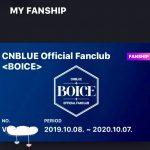 CNBLUE 公式ファンクラブ 韓国BOICE 募集案内